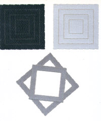 Light Arted Designs - Frames - Deckle Squares - Black/Dark Silver/Light Silver