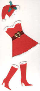 Light Arted Designs Laser Cut Ms Santa Outfit
