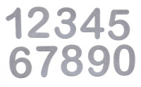Light Arted Designs - Numbers - Silver