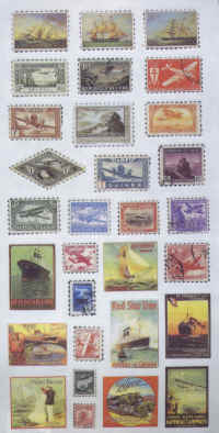 Stickers - Transport Stamps