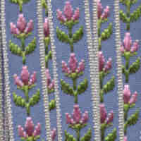Embroidered Ribbon - Light Blue Floral
