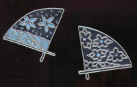 Light Arted Designs - Oriental Fans - Silver