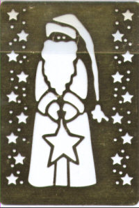 Heritage Handcrafts - Tall Santa with Star