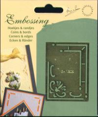 Brass Embossing Stencil - Corners & Borders - 1809