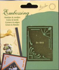 Brass Embossing Stencil - Corners & Borders - 1810