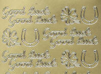 Peel Off Stickers - Good Luck 2 - Gold