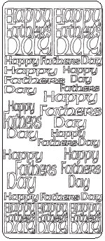 Peel Off Stickers - Happy Father's Day