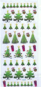Papermania Accent Stickers - Christmas Trees