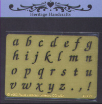 Heritage Handcrafts -Lowercase Script Alphabet