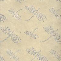 Luxury Silk Glitter Paper - Beige Dragonflies