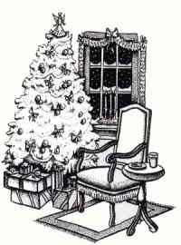 Stamp Oasis Christmas Eve Wood Mounted Rubber Stamp