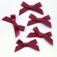 Ribbon Bows - Wine
