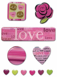 Rob and Bob Studio Craft Candy Epoxy Sticker Love
