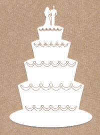 Light Arted Designs - Wedding Cake 2