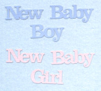 Light Arted Designs - Words - New Baby