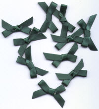 Ribbon Bows - Emerald Green