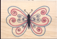 Funstamps Scroll Butterfly