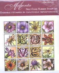 Magenta Self-cling Rubber Stamp Set - Floral Love