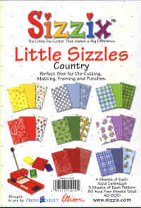 Sizzix Little Sizzles Country Paper Pad