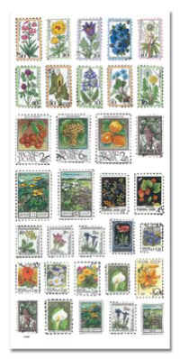 Stickers - Flower Stamps