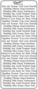 Tiny Wedding Words Peel Off Stickers