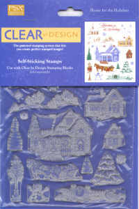 PSX Clear by Design Home For The Holidays Christmas Stamp Set