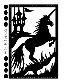 Black Unicorn Scene Peel Off Stickers