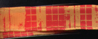 Wired Woven Ribbon - Quadrille - Nectarine - 23mm