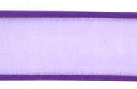 Sheer Satin Edge Ribbon - Purple - 40mm
