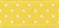 Polka Dot Ribbon - Micro Dot - Gold