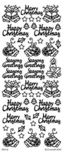 Dovecraft Christmas Greetings Peel Off Stickers Special Offer