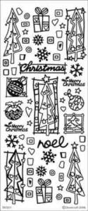 Dovecraft Christmas Trees Peel Off Stickers Special Offer
