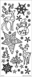 Dovecraft Reindeer Peel Off Stickers Special Offer