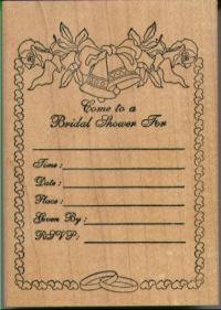Stamps Happen Bridal Shower Invitation