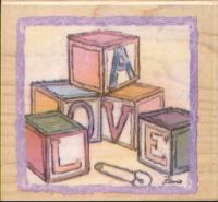 Inkadinkado Rubber Stamp - Baby Love Blocks