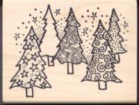 Magenta Christmas Trees