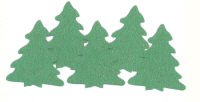 Light Arted Designs - Pine Trees - Green Glitter