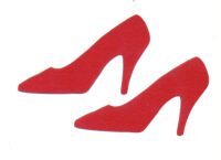 TLC Laser Cut - Shoes - Red