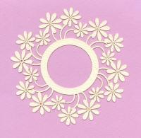 Light Arted Designs - Card Frame - Round Daisy