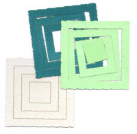 Light Arted Designs - Frames - Deckle Squares - Greens
