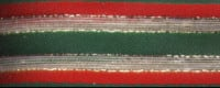 Striped Ribbon - Red, Green and Gold