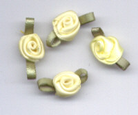 Ribbon Rosebuds (Large) - Lemon