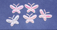 Padded Fabric Butterflies - Pink