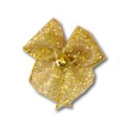 Metallic Bow & Pearl - Gold