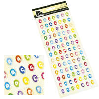 Papermania Dome Stickers - Alphabet Small Colours