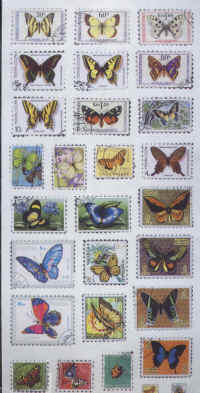Stickers - Butterfly Stamps