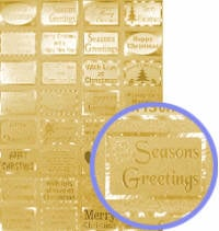 Dufex Elements Christmas Greetings Toppers