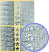 Dufex Greeting Stickers - Birthday Wishes