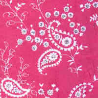 Luxury Silk Glitter Paper - Bright Pink Paisley