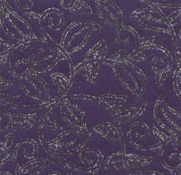 Luxury Silk Glitter Paper - Purple/Silver Leaves